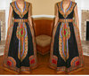 African print dress, African evening dress, /African Ethinic /black dashiki with two invisible pockets maxi dress.