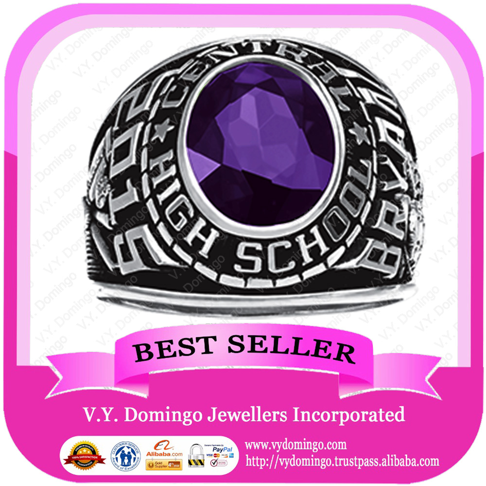 Stainless Steel College Student ring Graduation Class Ring