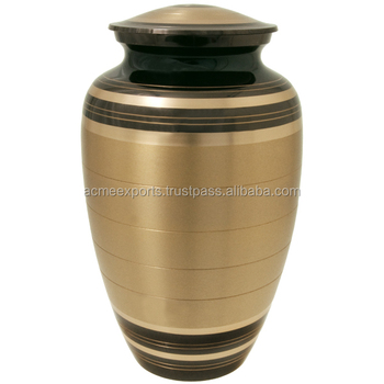 Brass Classic Urns With Gold and Black Finish