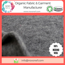 Soft touch Organic Wool Fabric for coat coats Natural Wool fabrics for Baby Kids clothing Outwear knitted knit