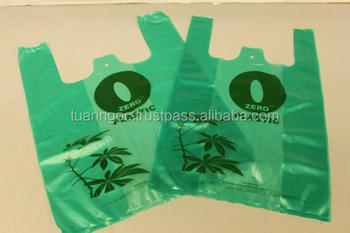 T-shirt Plastic Bag/ Cheap supermarket T-shirt plastic bag