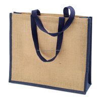 Eco-friendly Reusable Bags Women Shopping Large Jute Burlap Bag brightly printed Bucket Jute Bags with zippere closure