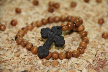 Hand Olive Wood Rosary with Holy Soil Cross