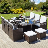PE pOLY Rattan Wicker Outdoor / Garden Furniture - CUBE SET