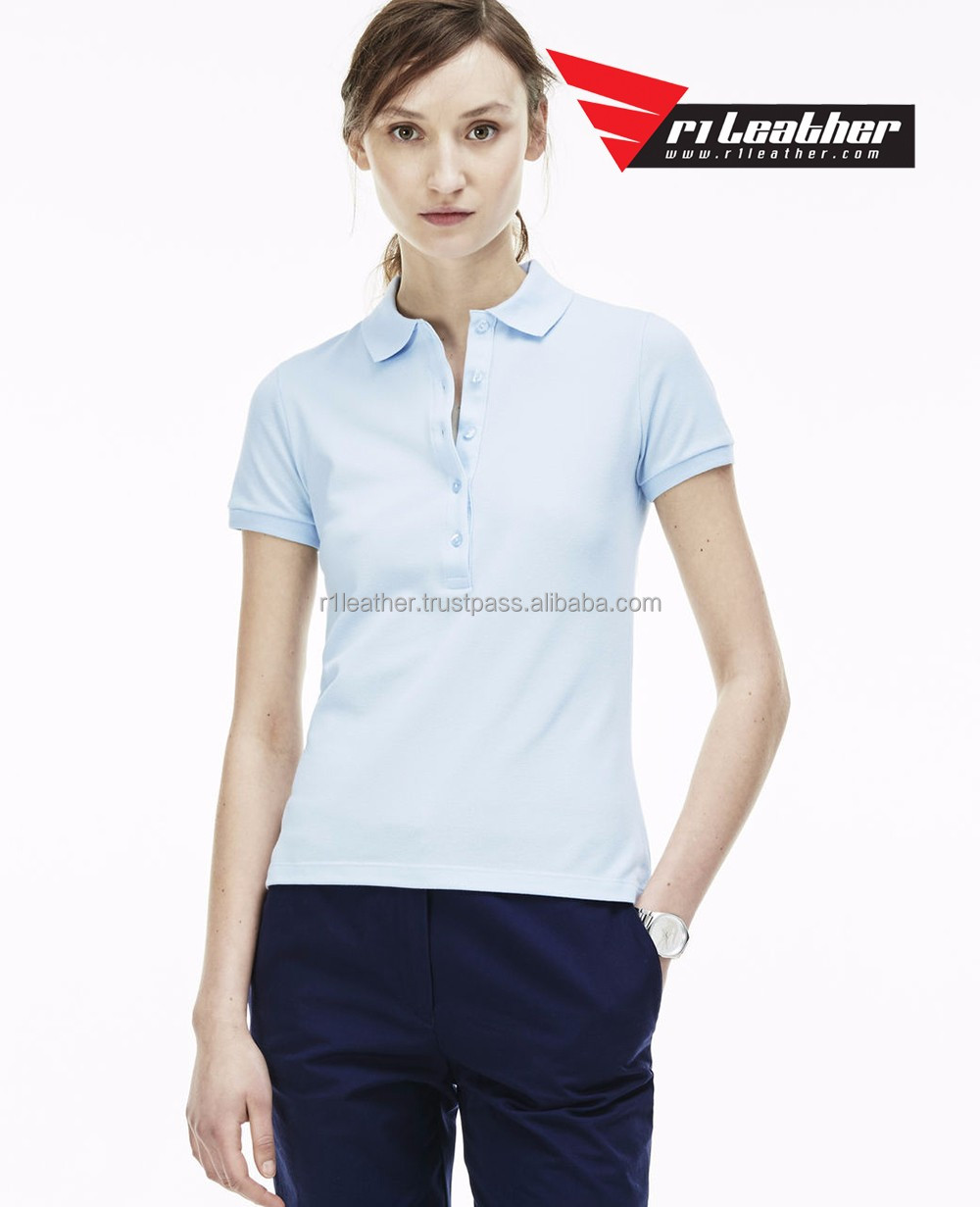 Custom Logo Design Screen Printing Embroidery Economical Blank Women Female ladies Polo Shirt