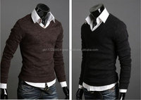 2016 new design sweater casual man sweater v neck fashion sweater