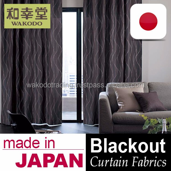 Made in Japan and High Quality blackout drapes curtains Curtain Fabric at Reasonable Prices , Small Lot Order Available