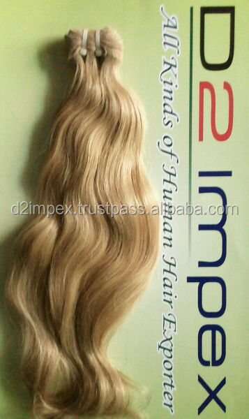 Raw virgin remy can be dyed hair weaving russian blonde hair extension