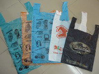 customized printed HDPE/LDPE plastic t shirt bags