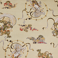 Classic and Japanese fabric textile of Kimono with many colors and design made in Japan
