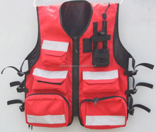 Hi Visibility EMS Medics Safety First Aid Response Vest