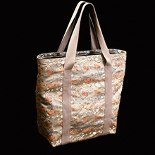 Gold brocade tote shopping bag , select from an astonishing range of colors