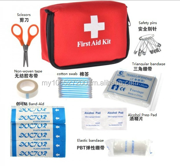 Travel Mini Emergency First Aid Kit with Customised Logo Printing