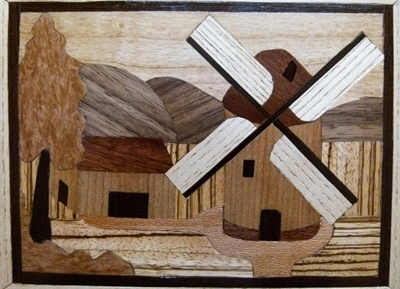 Intarsia hout