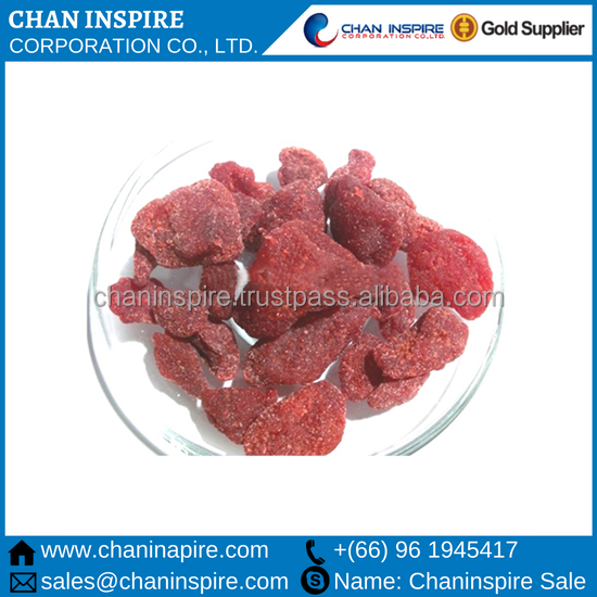 High quality factory supply freeze dried strawberry in Fruit chips 100% natural