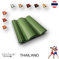 33*42 cm concrete carved new red white green blown dark blown yellow orange Thai concrete roof tiles from Thailand