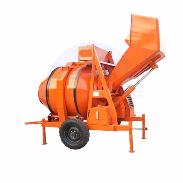 ZHENHENG Factory Diesel Engine Cement Concrete Machine Concrete Mixer Machine
