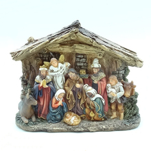 new resin led light nativity set for religious home decoration