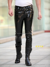 2017 Leather Pants /Sheep skin leather sweat pants/latest leather legging