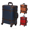 amber luggage trolley case YKK zipper style PP board luggage and cases vintage carry bag travel suitcase vintage trolley