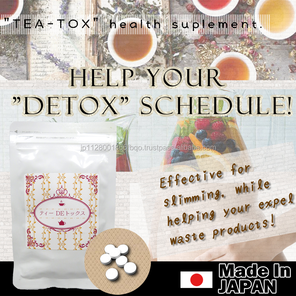 High-grade tea detox and Innovative slimming tea detox belly patch with pouch type packaging