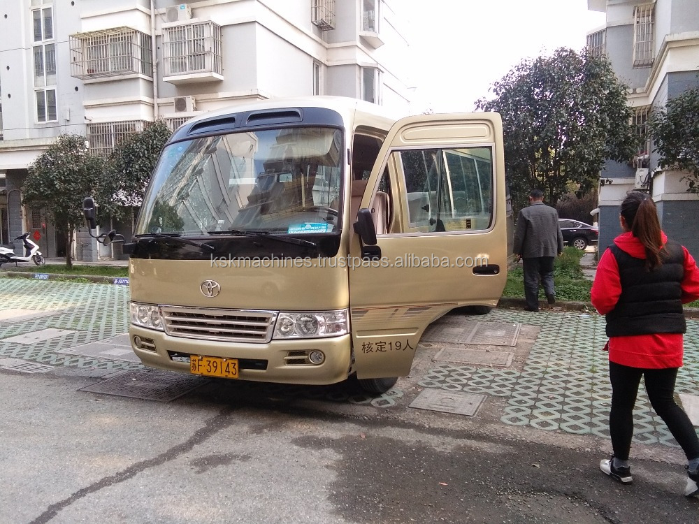 Shanghai cheap price Japan toyota used coaster mini bus for sale