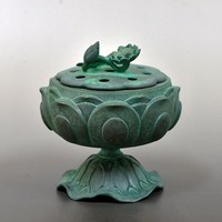 Various color and Beautiful lotus flower and leaf Incense burner for interior decoration , different color also available