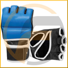 MMA boxing training gloves equipment fitness exercise gym weight lifting workout leather crossfit half finger gloves