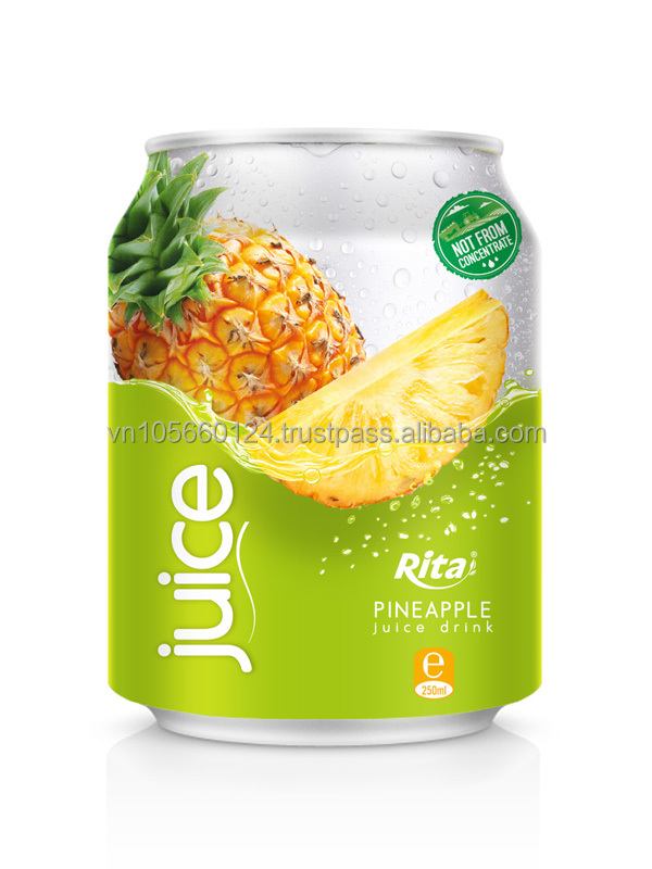 High quality 250ml alu can Real Pineapple Juice