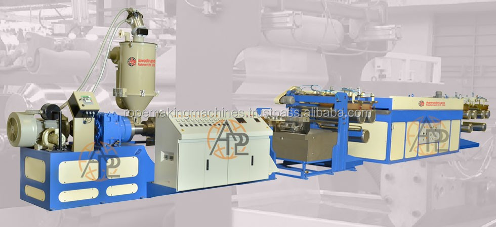 pp monofilament/raffia/tape/film yarn extruder machine/ stretching extrusion line