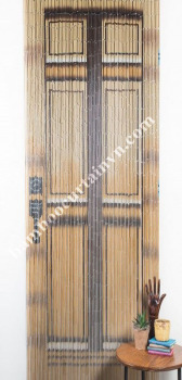 100% hand made and hand painted original Vietnam bamboo curtain door look