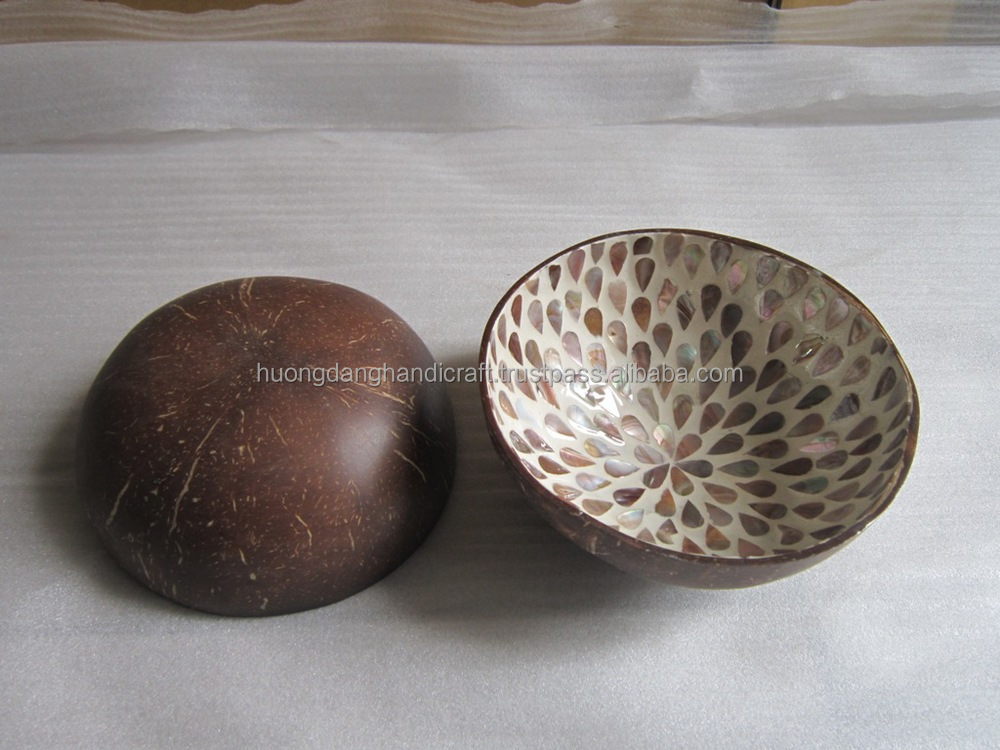 Natural coconut round bowl - polish disgn, high quality - 100% Eco-friendly, handicraft