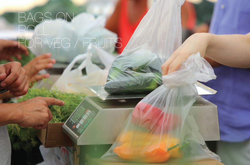 Plastic Bags on Rolls for Vegetable/ Fruits from Dubai SUPPLIER