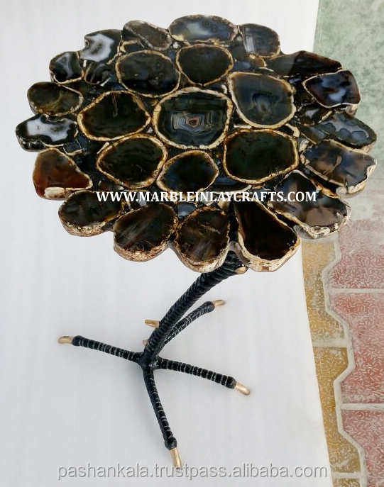 Gemstone Brown Agate Coffee Table Top