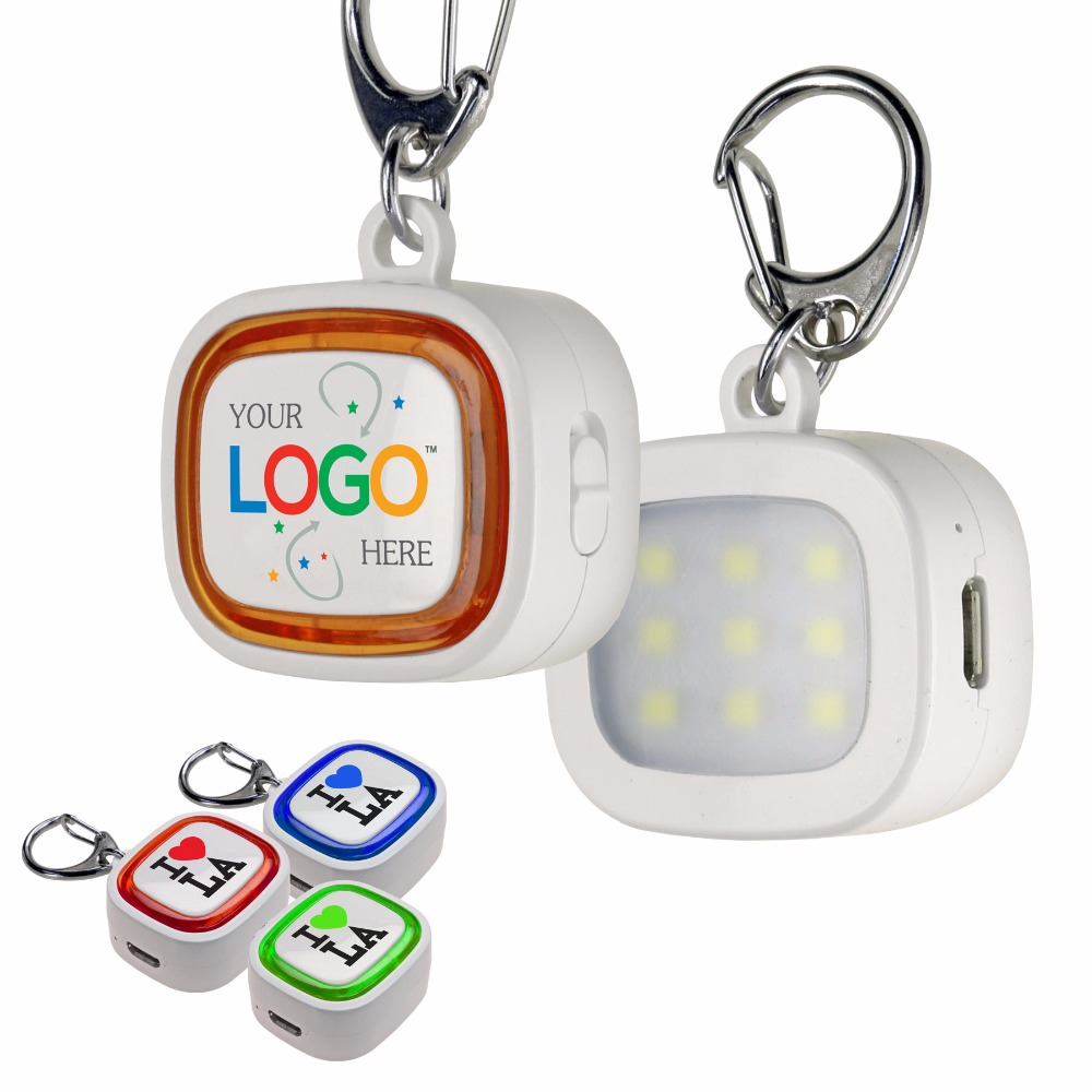 Promotional Portable 9 LED Key Chain Flash Light with Imprint