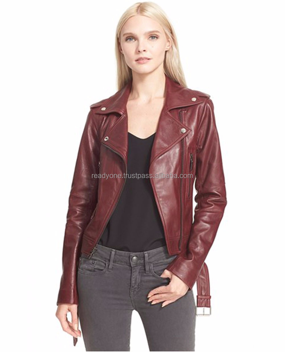 Biker Leather Jacket Valentine Heart Shaped Womens Leather Motorcycle