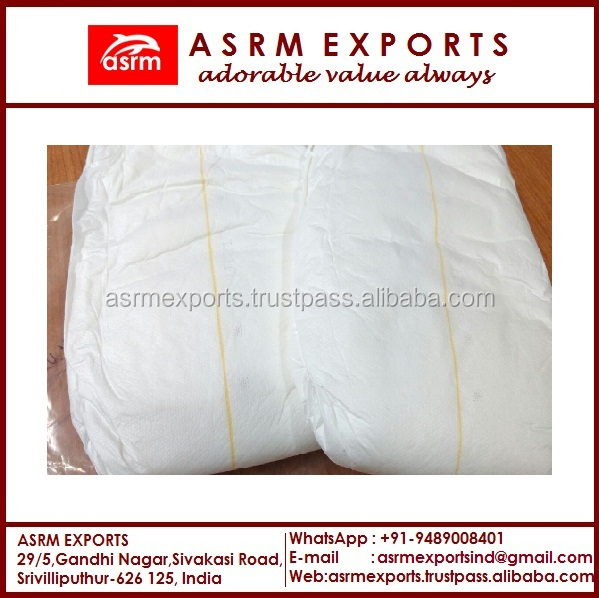 disposable adult diapers with 3D leak prevention channel from india in bulk