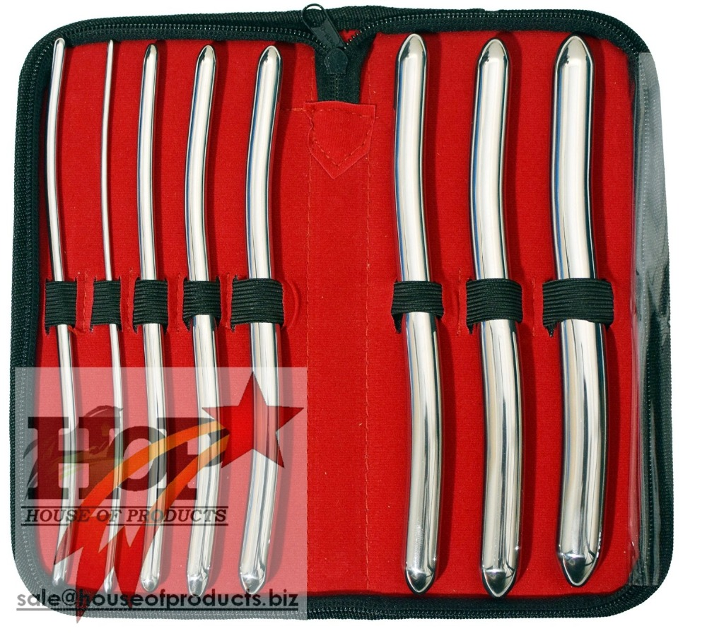Hegar 8 Piece Urethral Sounds Kit, Urethral Dilator Set 3mm-18mm
