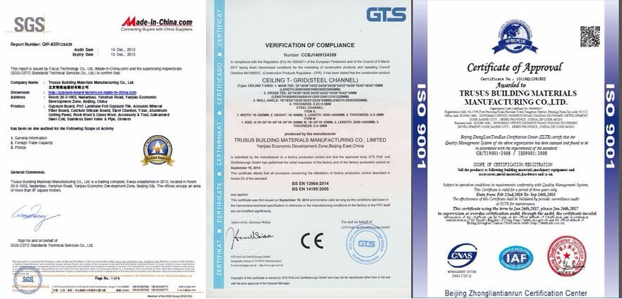 CE AND ISO APPROVED Competitive Suspended Ceiling T Bar