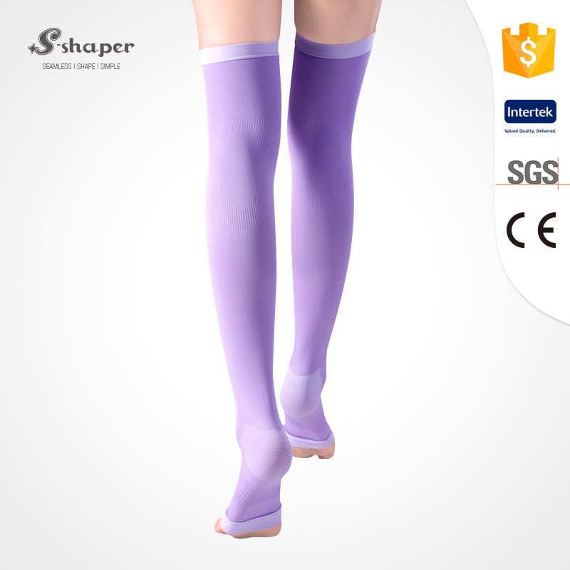 S-SHAPER Wholesale Sleep Thigh High Socks Open Toe Stockings