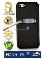 Wholesale hot selling Black mobile phone cigarette lighter cover for iPhone 5 5S SE