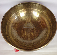 34 Cm Chakra Carved Special Sound Tibetan Singing Bowl