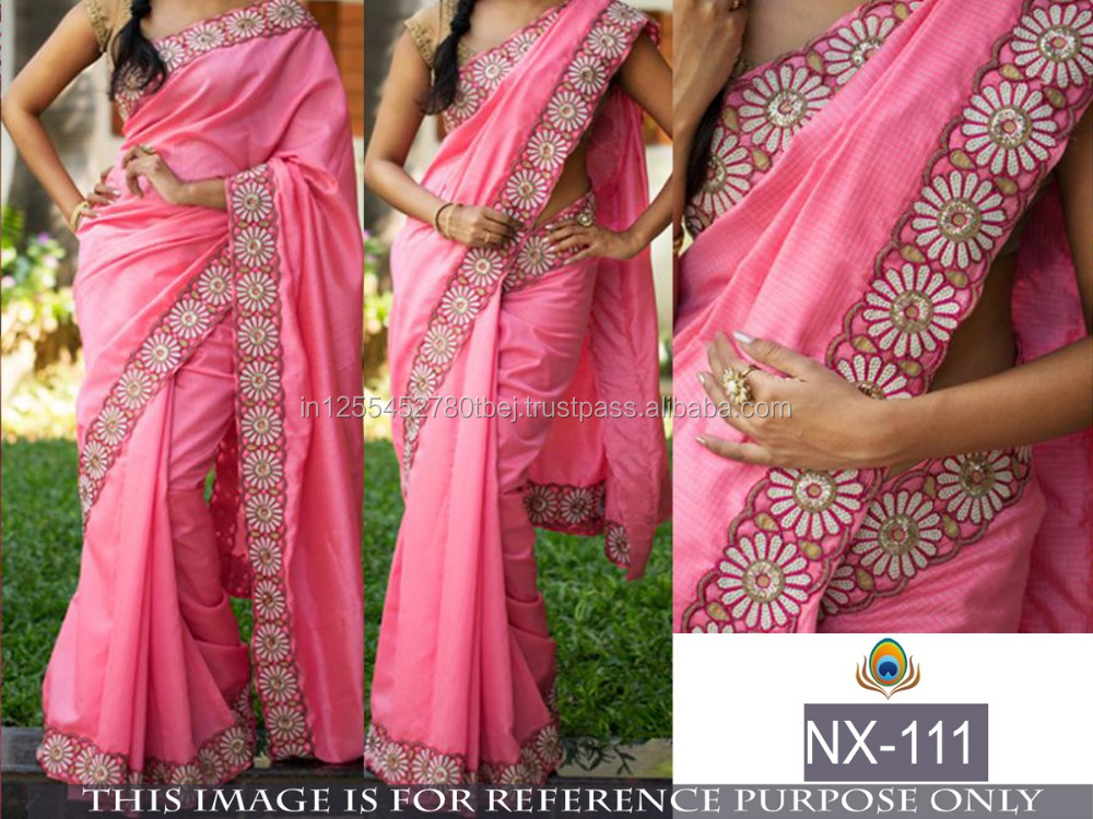 latest saree blouse designs plain saree with border designs sari