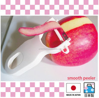 Easy-use peeler for vegetable slicer with stainless steel blades from two colors