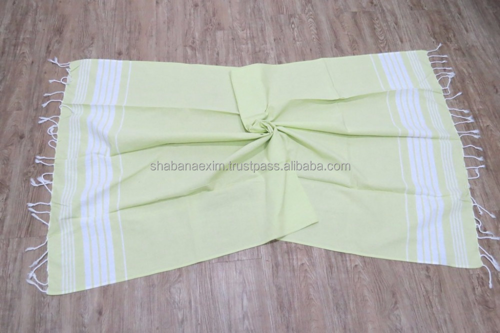 Natural Dyed 100% Cotton Beach Spa Hammam Sauna Yoga Picnic Blanket
