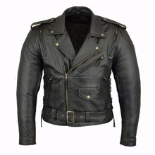 Black Leather Racing Jackets,Motorbike leather jacket casual jackets by Motorcycle