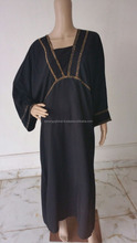 Islamic Embroidered Georgette Caftan Kaftan Abaya Jalabiya - Islamic Clothing Wholesale