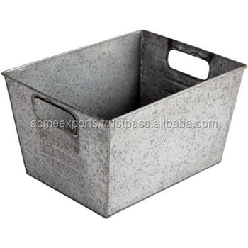 Natural Color Galvanized Beverage Ice Tub