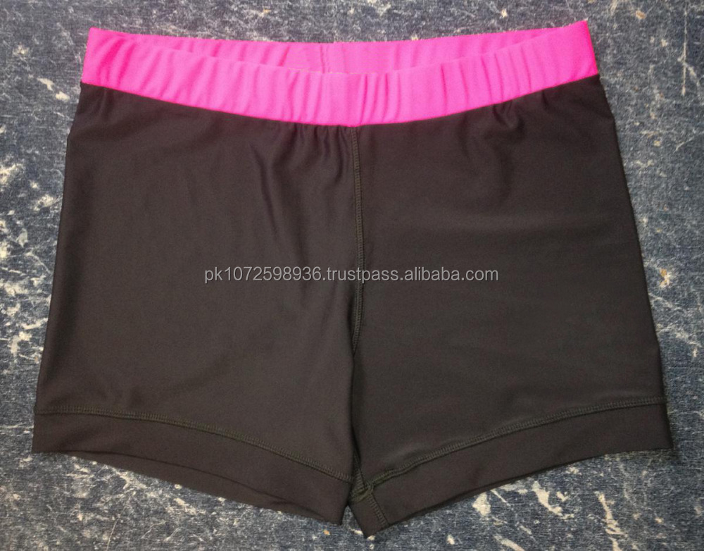 OEM Custom 80% polyester 20% spandex slim fit wholesale Womens Running Shorts