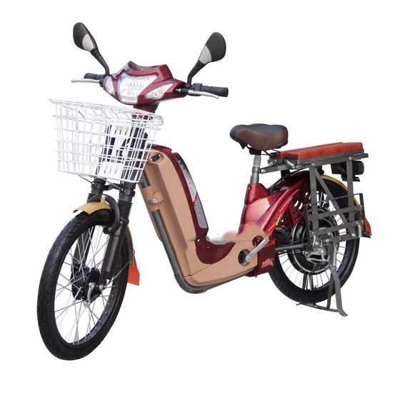 350W/450wbrushless Motor Electric Bike with Basket and Pedal (EB-013D)